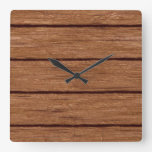 rustic wood planks 15216b square wall clocks