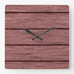 rustic wood planks 15216c square wall clock
