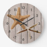 Rustic Wood Starfish Clock