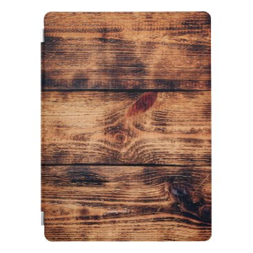 Rustic wooden surface iPad pro cover
