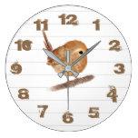 Rustic Wren Bird Personalized  Wall Clock