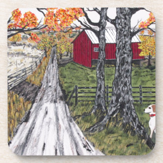 Sadie The Farm Dog Drink Coaster