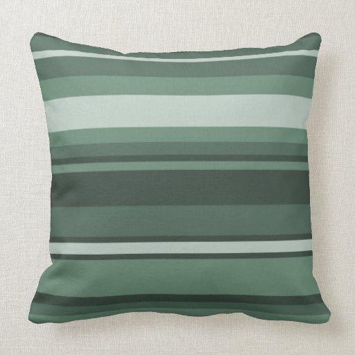 Sage green stripes throw pillow  Zazzle