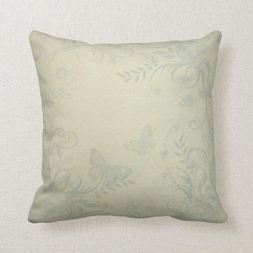 Sage Green Vintage Throw Pillow  Zazzle