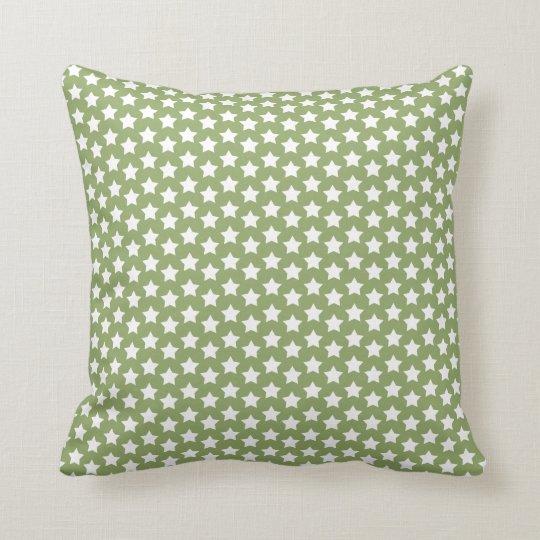 Sage Green  White Stars Throw Pillow  Zazzlecom