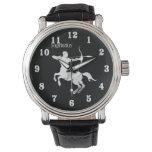 Sagittarius Silver Archer Zodiac Wrist Watch