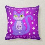 Sagittarius Zodiac Cat Astrology Sign Pillow