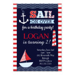Sail Away Nautical Birthday Invitation