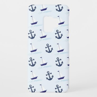 Sail Boat and Anchor Pattern Case-Mate Samsung Galaxy S9 Case