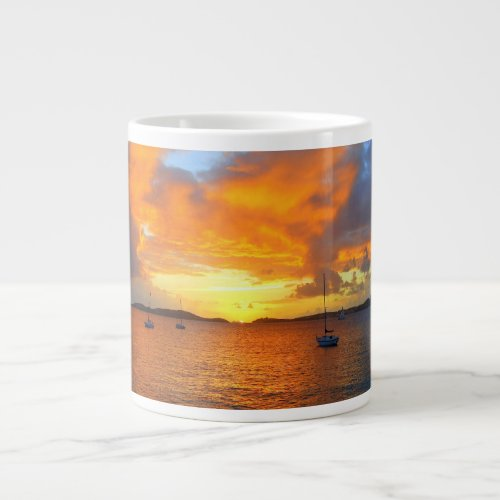 Sailboats at Golden Sunset Mug specialtymug