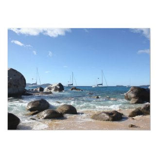 Sailing Boats at the Baths, BVI 5x7 Paper Invitation Card