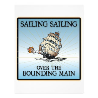 Sailing, Sailing - Over The Bounding Main Custom Letterhead