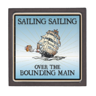 Sailing, Sailing - Over The Bounding Main Premium Keepsake Box