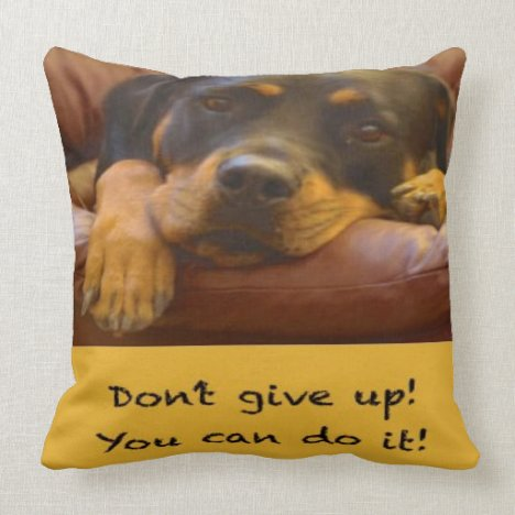 Sammy the Rottweiler Support Pillow