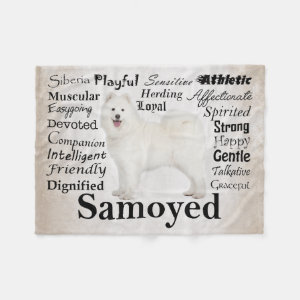 Samoyed Traits Fleece Blanket