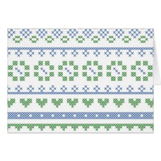 Sampler Pattern Notecards