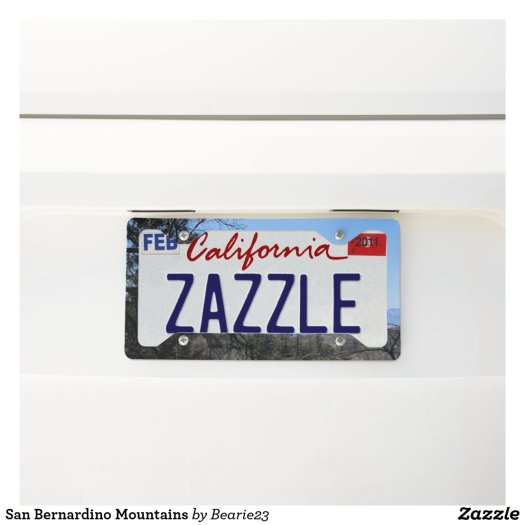 San Bernardino Mountains License Plate Frame