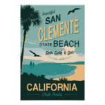 San Clemente State Beach Travel Poster