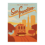 San Francisco, CA - The City by the Bay Wood Wall Art