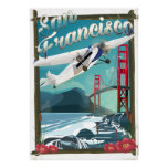 San Francisco Flight travel poster