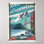 San Francisco Flight travel poster