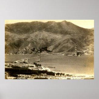 San Francisco, Golden Gate Bridge, 1930s Vintage Posters