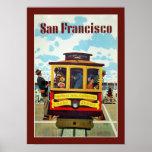 San Francisco USA Vintage Travel Poster