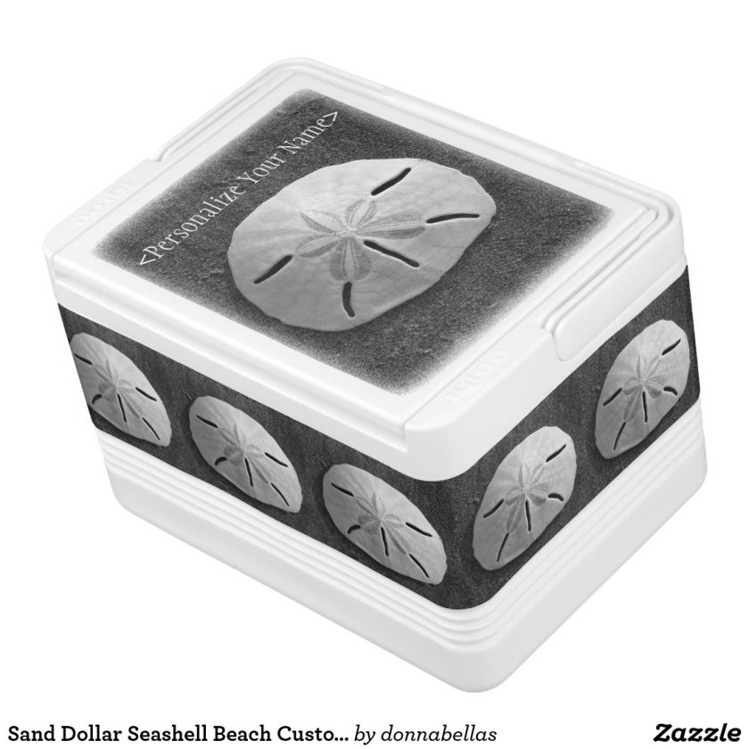 Sand Dollar Seashell Beach Custom Igloo Cooler