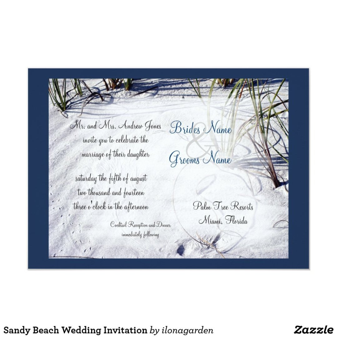 Sandy Beach Wedding Invitation