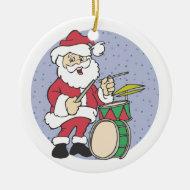 Santa Drummer Christmas Ornament