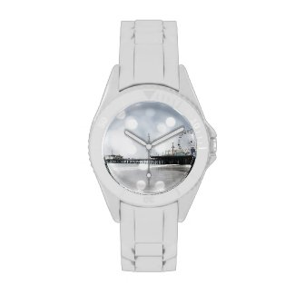 Santa Monica Pier Grey Sparkles Photo Edit Watch
