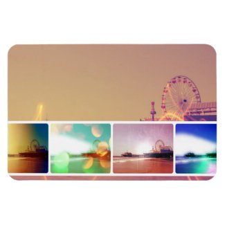 Santa Monica Pier Photo Collage Rectangle Magnet