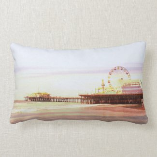 Santa Monica Pier Sunrise Pillows