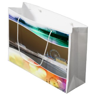 Santa Monica Pier Tricolor Large Gift Bag