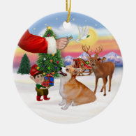 Santa's Treat  - Welsh Corgi (Pembroke) Ornament