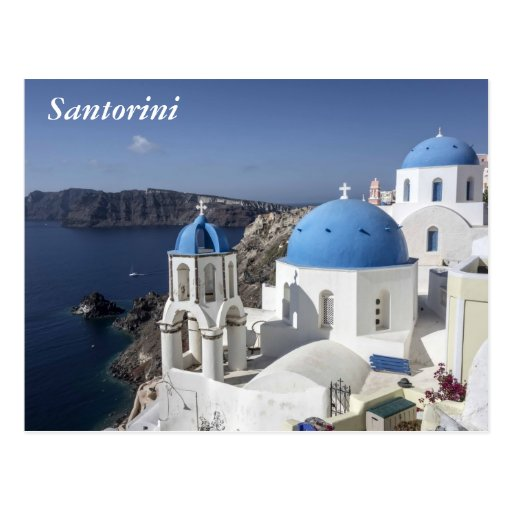 Santorini Greece Postcard Zazzle