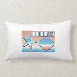 Sarasota Florida Seashells Pillow