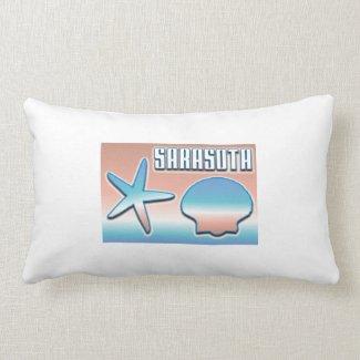 Sarasota Florida Seashells Pillow