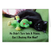 Sassy Cat & Froggy Valentine's Day Card