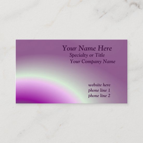 Saturn Rings Business Card