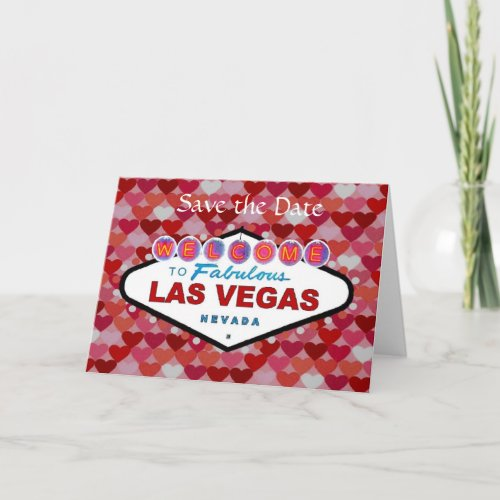 Save the Date Las Vegas Valentine's Day Card