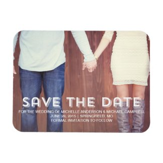 Save The Date Magnets, Vintage, Rustic, Country