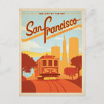 Save the Date | San Francisco, CA  City by the Bay Announcement Postcard