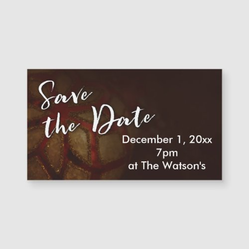 """""""Save the Date"""" Typography with Red & Gold Photo"""
