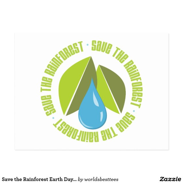 Save the Rainforest Earth Day Tees and Gifts Postcard