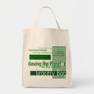 Saving the Planet One Bag At-A-Time Grocery Bag 1 bag