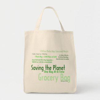 Saving the Planet One Bag At-A-Time Grocery Bag 3 bag