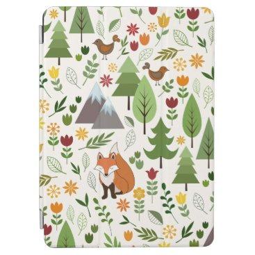 Scandinavian Style Illustrations on Cream Pattern iPad Air Cover
