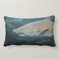Scary Great White Shark Pillow | Zazzle