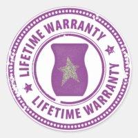 Scentsy Warmer lifetime warranty Classic Round Sticker ...